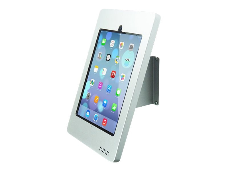 Joy Factory Fixed Elevate Wall Mounted Kiosk for iPad Air Air 2, iPad 2 3 4, White, KAA103