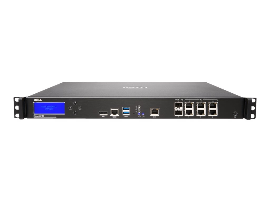 SonicWALL Secure Mobile Access 7200 with Administrator Test License, 01-SSC-2301, 20658491, Network Firewall/VPN - Hardware