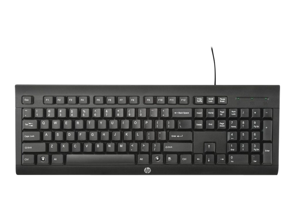 HP K1500 Wired USB Standard Keyboard, H3C52AA#ABA