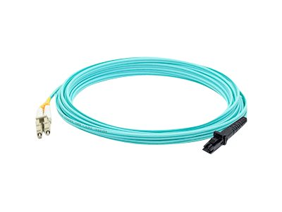 ACP-EP LC to MT-RJ OM3 Multimode Fiber Duplex Patch Cable, Aqua, 15m, ADD-LC-MTRJ-15M5OM3