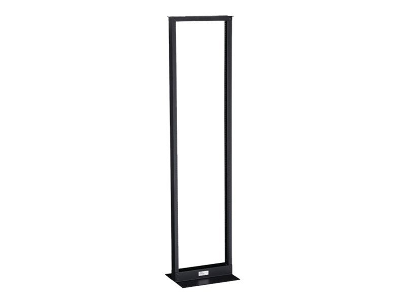 Black Box 2-Post Premier Aluminum Distribution Rack, Black Finish, 84h (45U) x 19w, RM162A-R3, 11162726, Racks & Cabinets