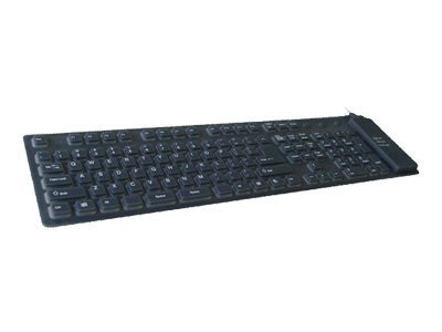 Adesso Foldable Full Size Keyboard - Black, AKB-230, 6062018, Keyboards & Keypads