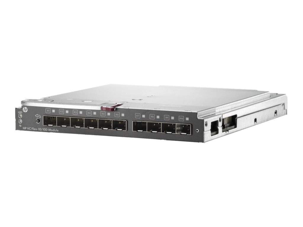 HPE Virtual Connect Flex-10 10D Module for c-Class BladeSystem, 638526-B21, 14778884, Network Switches