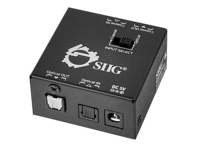 Siig S PDIF Coaxial TOSLINK 2-Way Converter, CE-CX0011-S1, 14557811, Scan Converters