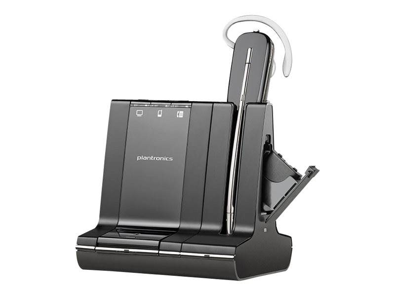 Plantronics W745 UL Talk Time Savi 3-In-1 Convertable Headset, 86507-01, 13068936, Headsets (w/ microphone)