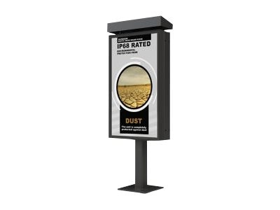 Peerless Xtreme Outdoor SingleDigital Menu Board Kiosk, KOP547-XTR-1