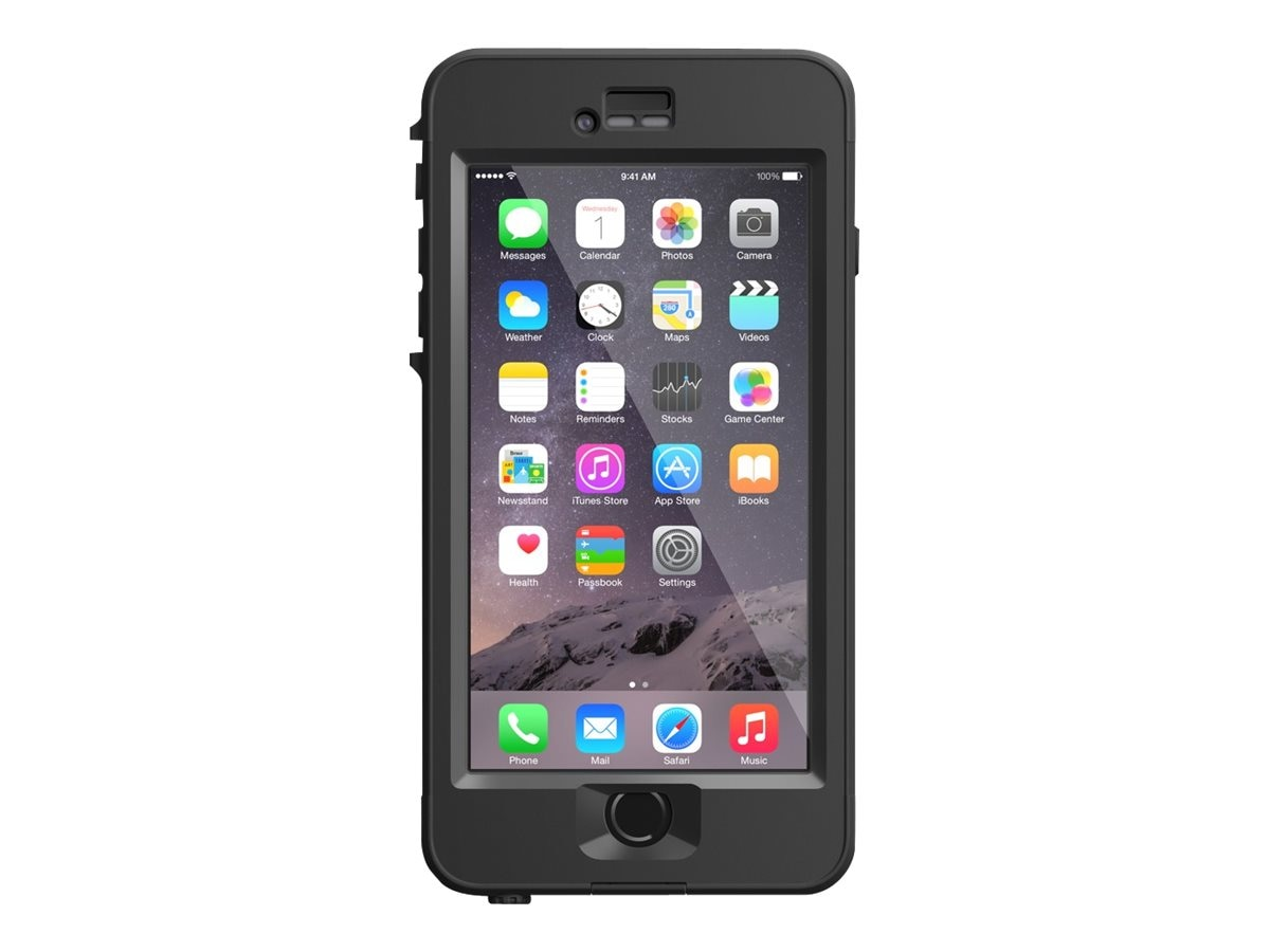 Lifeproof Nuud V2 for iPhone 6 Plus, Black, 77-51145, 23208251, Carrying Cases - Phones/PDAs