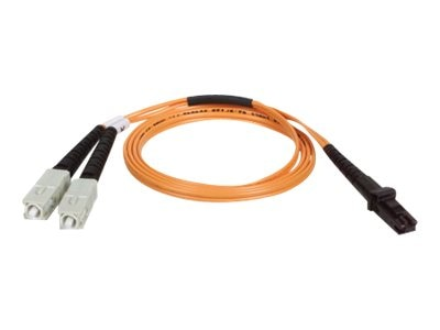 Tripp Lite MTRJ-SC 62.5 125 OM1 Multimode Duplex Fiber Patch Cable, Orange, 8m, N310-08M, 31605272, Cables
