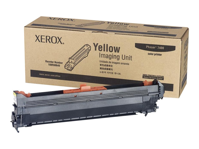 Xerox Yellow Imaging Unit for Phaser 7400 Printers, 108R00649, 6116071, Toner and Imaging Components