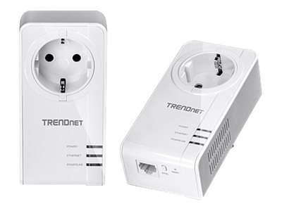 TRENDnet Powerline 1200 AV2 Adapter Kit with Built-In Outlet, TPL-421E2K