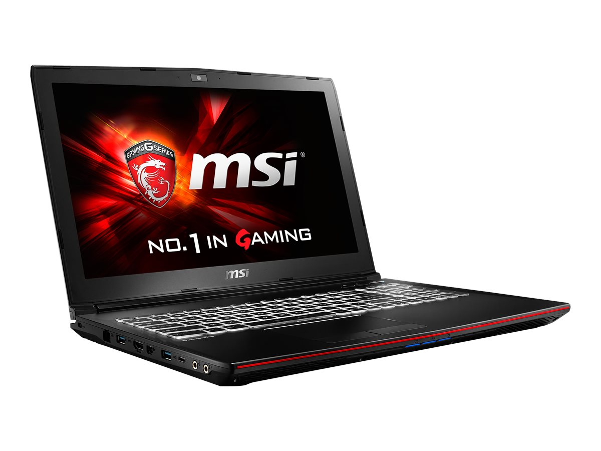 MSI GP62 Leopard Pro-870 Core i7-6700HQ 2.6GHz 16GB 256GB SSD DVD SM BT WC 6C 15.6 FHD W10