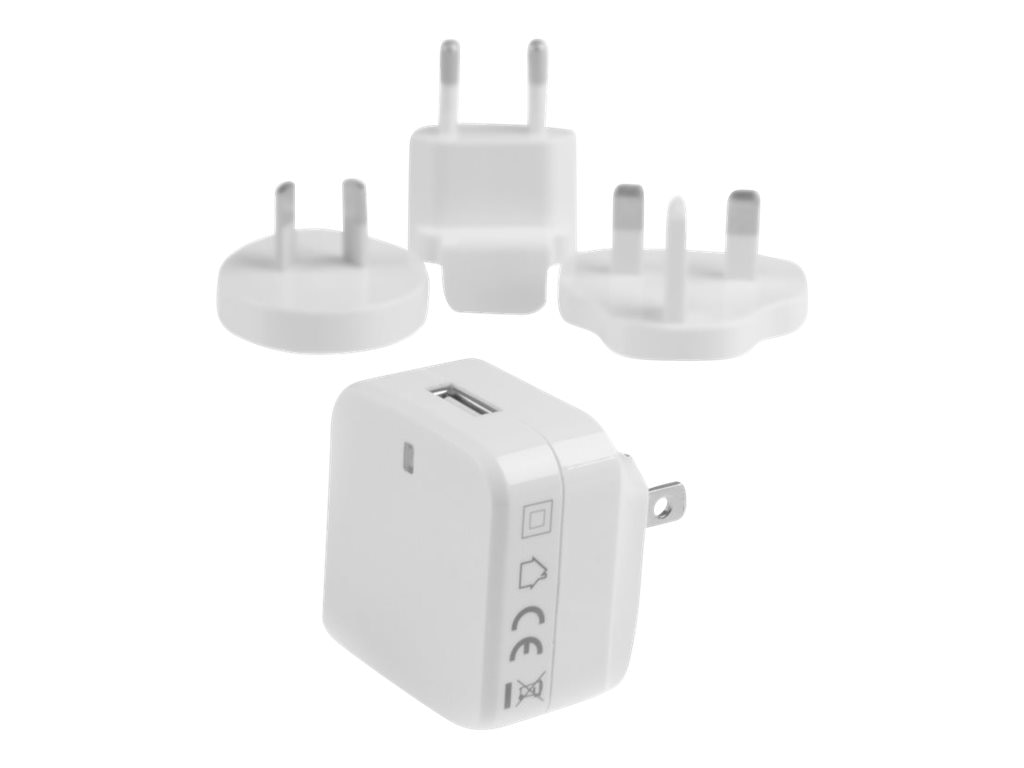 StarTech.com USB Wall Charger w  Quick Charge 2.0 for International Travel, White, USB1PACVWH, 22247101, Battery Chargers