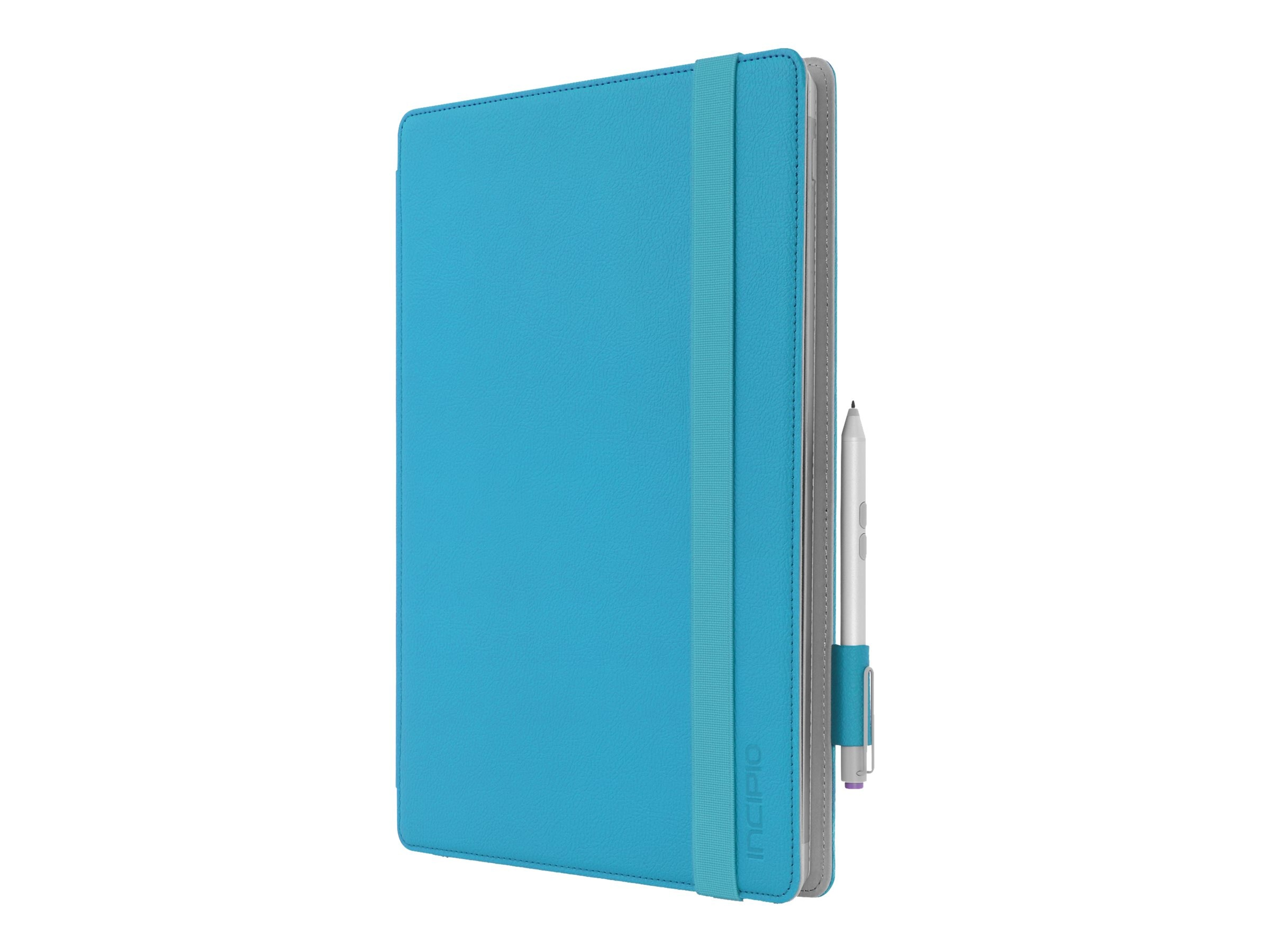 Incipio Roosevelt Slim Folio w  Snap-On Type Cover Compatibility for Microsoft Surface Pro 3 & 4, Cyan, MRSF-070-CYN