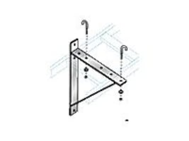 Black Box Ladder Rack Triangular Support Bracket, 12 Wide, Black, RM654-R2, 12452451, Rack Cable Management