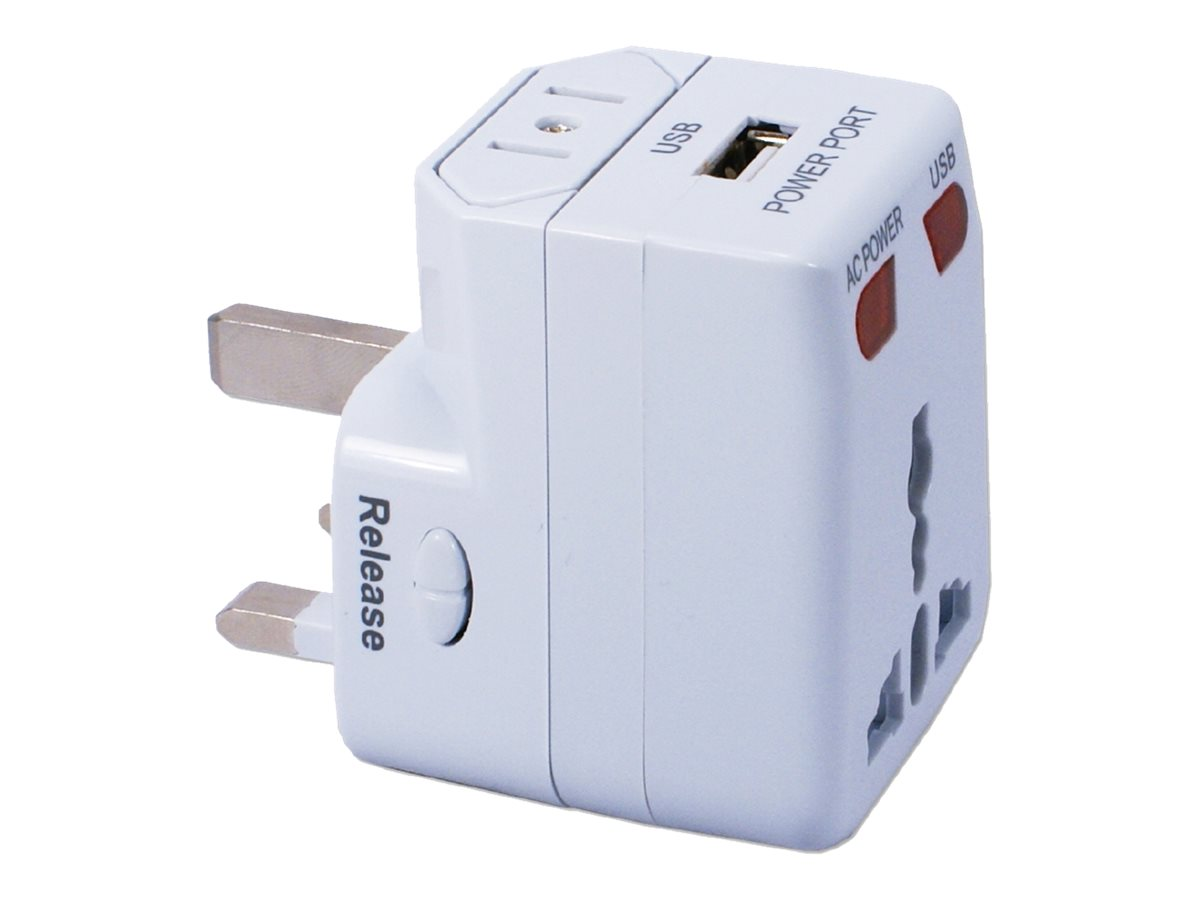 QVS Premium Universal Travel Power Adapter, PA-C2
