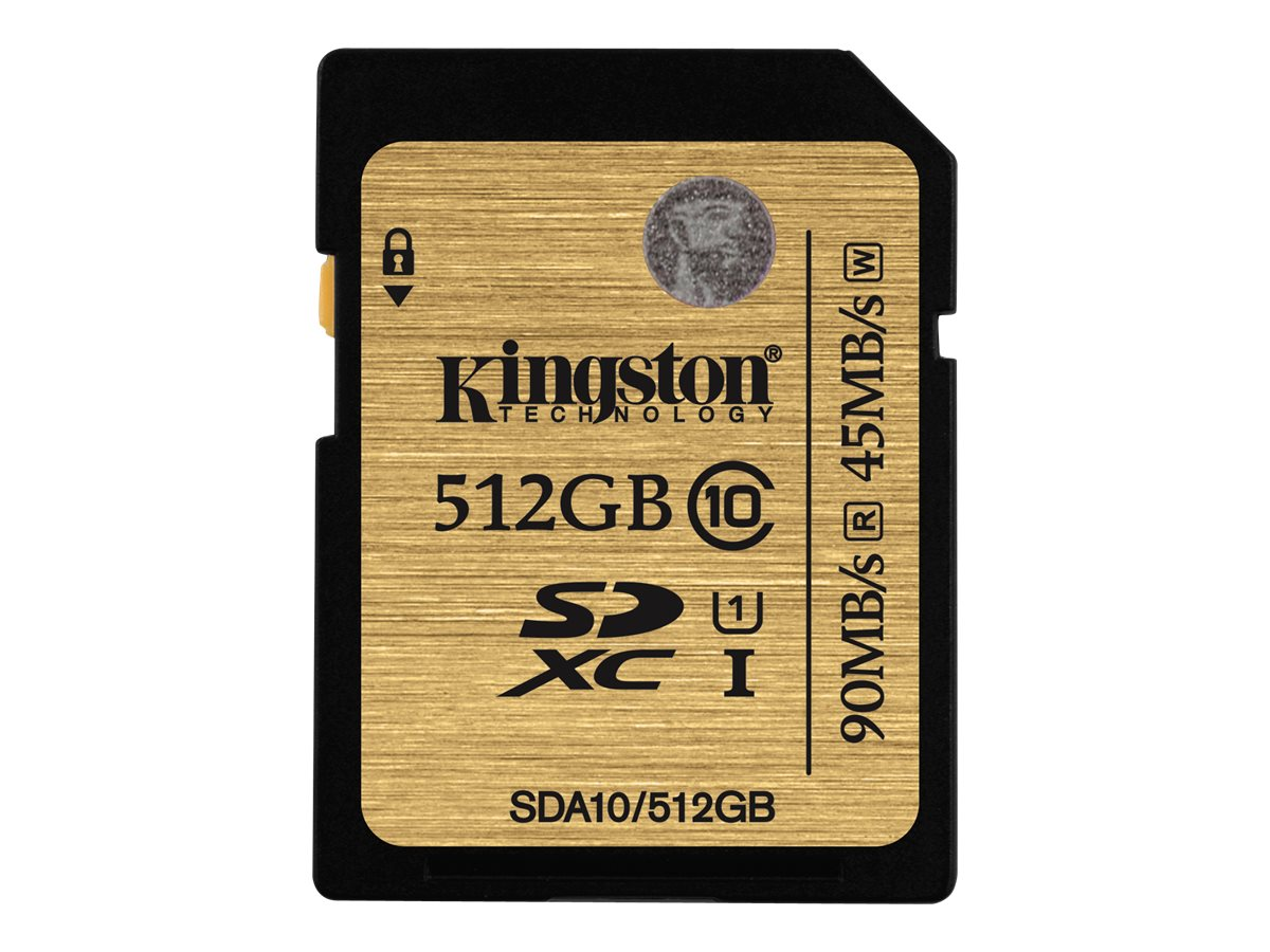 Kingston 512GB SDXC Flash Memory Card, Class 10