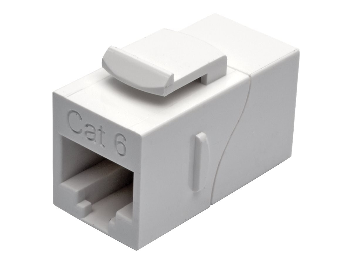 Tripp Lite Cat6 RJ-45 F F Straight-Through Modular In-Line Snap-In Coupler, White, N235-001-WH, 31659828, Cable Accessories