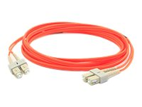 ACP-EP SC-SC 62.5 125 OM1 Multimode LSZH Duplex Fiber Cable, Orange, 30m