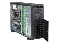 Supermicro Chassis, 4U Tower, EATX, 8 3.5 SAS SATA HS Bays, 865W PS, Black, CSE-743TQ-865B, 8145984, Cases - Systems/Servers