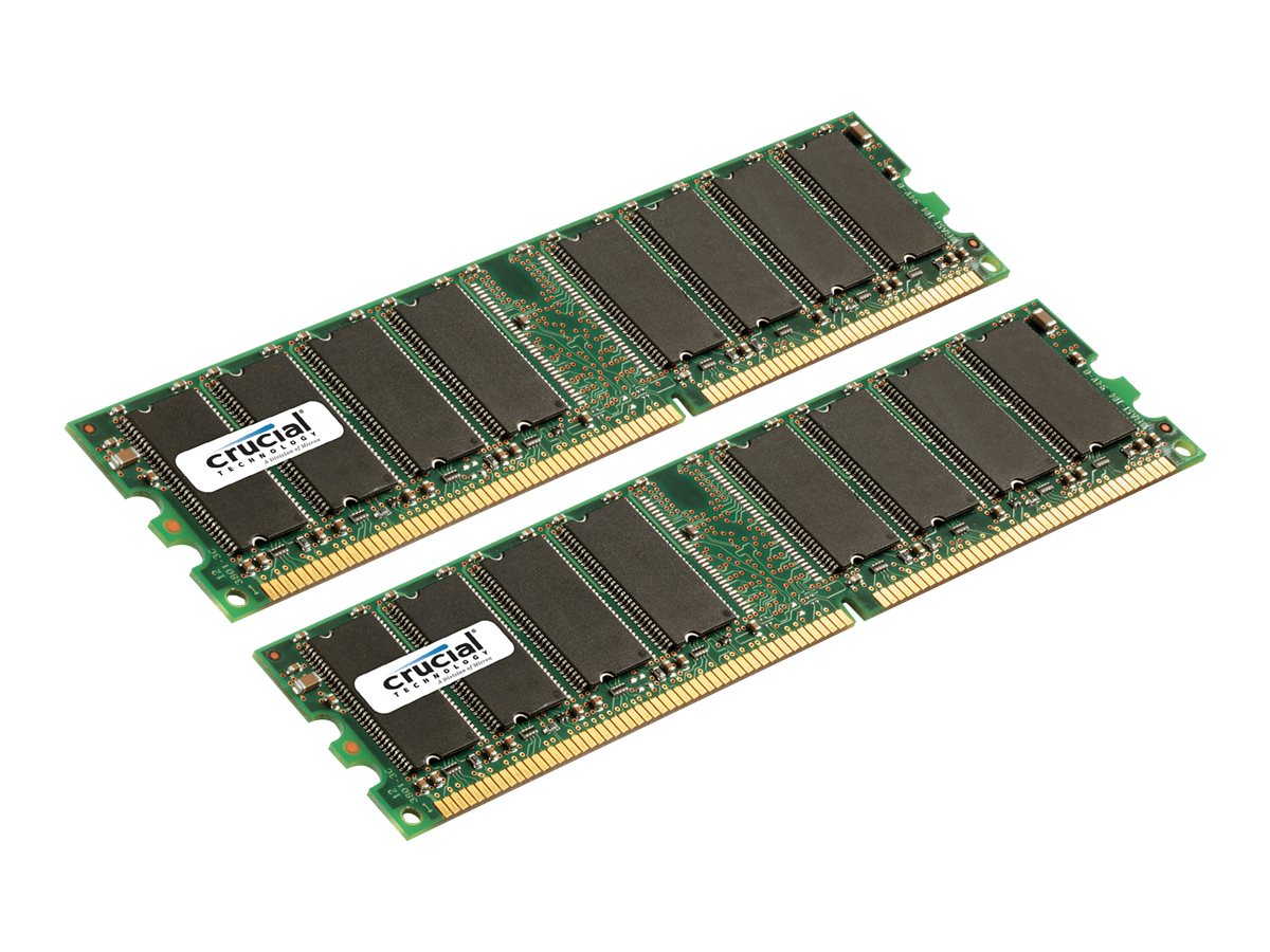 Crucial 2GB PC2700 184-pin DDR SDRAM UDIMM Kit