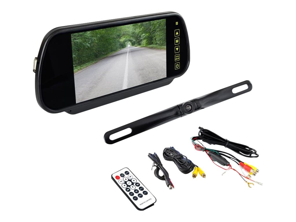 Pyle Bluetooth Rearview Backup Camera and Monitor System with 7'' Mirror Mount Display Screen, PLCM7400BT