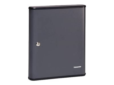MMF POS SteelMaster 90-Key Security Cabinet, 15h x 12-1 8w x 4-1 2d, Charcoal Gray