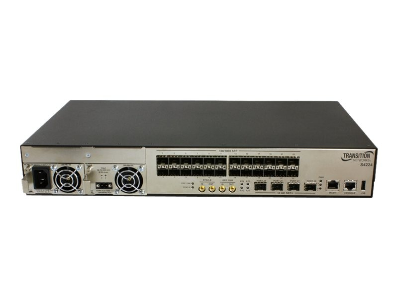 Transition 24100 1000 SFP Ports & 4-10G SFP+ Port Carrier Ethernet Switch