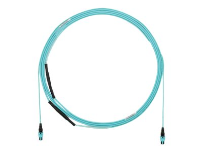 Panduit MPO to MPO OM3 Plenum Trunk Cable, Aqua, 50ft, FXUYP7575XNF050