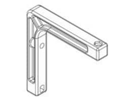 Draper Mounting Brackets for Projection Screen, 6in, 227222, 8481646, Stands & Mounts - AV