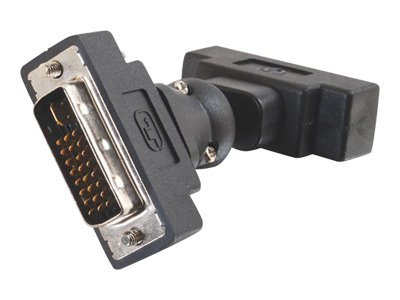 C2G DVI-A (M-F) 360° Rotating Adapter, 40935, 8135532, Adapters & Port Converters
