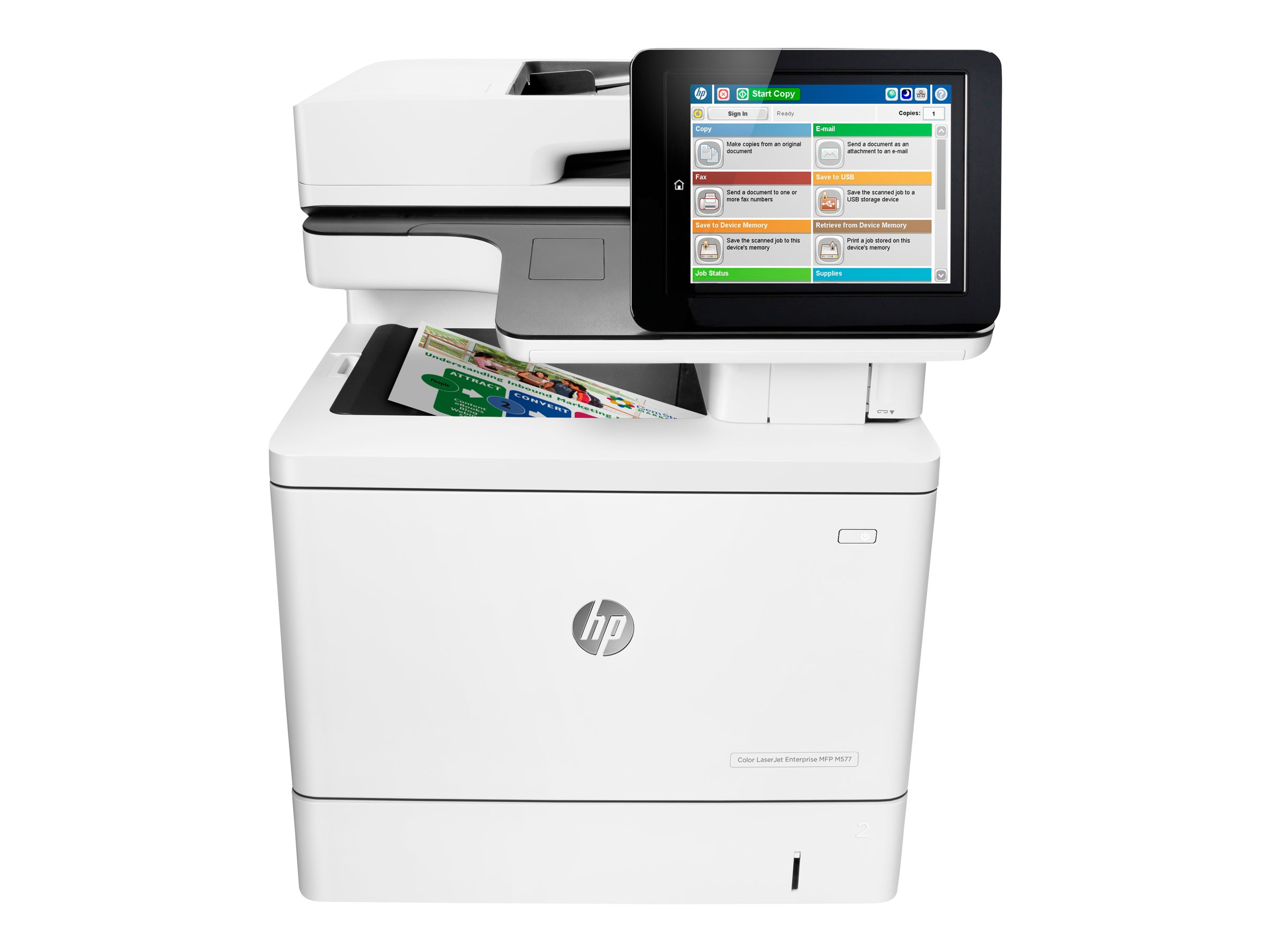 HP Color LaserJet Enterprise MFP M577f, B5L47A#BGJ, 30779211, MultiFunction - Laser (color)