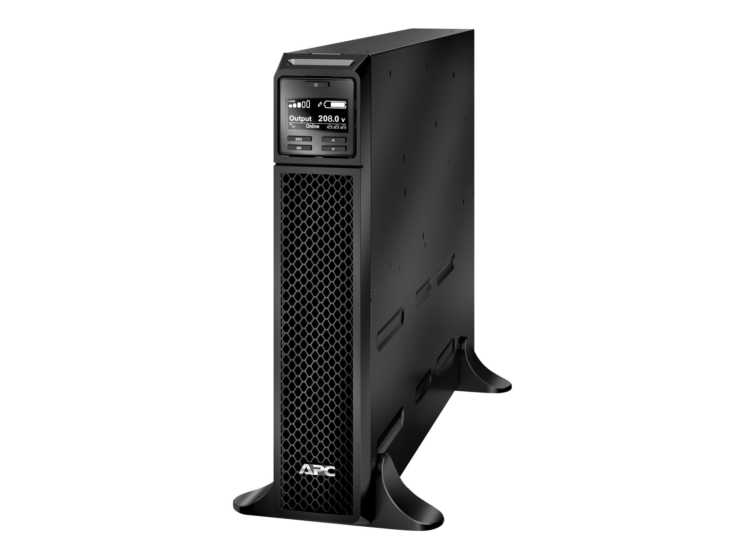 APC Smart-UPS SRT 3000VA 2700W 208V Online UPS L6-20P Input (3) Outlets USB Serial Smartslot, SRT3000XLT, 30899248, Battery Backup/UPS