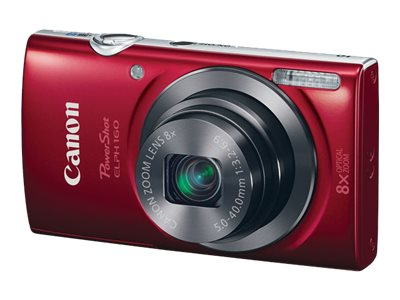 Canon PowerShot ELPH 160 Camera, 20MP, 8x Zoom, Red, 0143C001, 18524380, Cameras - Digital - Point & Shoot