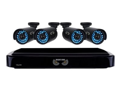 Night Owl 4-Channel Smart HD Video Security System with 1TB HDD and 4x 720p HD Cameras