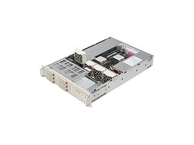 Supermicro Chassis, 2U Rackmountable, 6 SAS SATA HS, 1 Bay, EATX, CD, FDD, 500W RPS, Beige, CSE-822T-R500RC, 6416912, Cases - Systems/Servers
