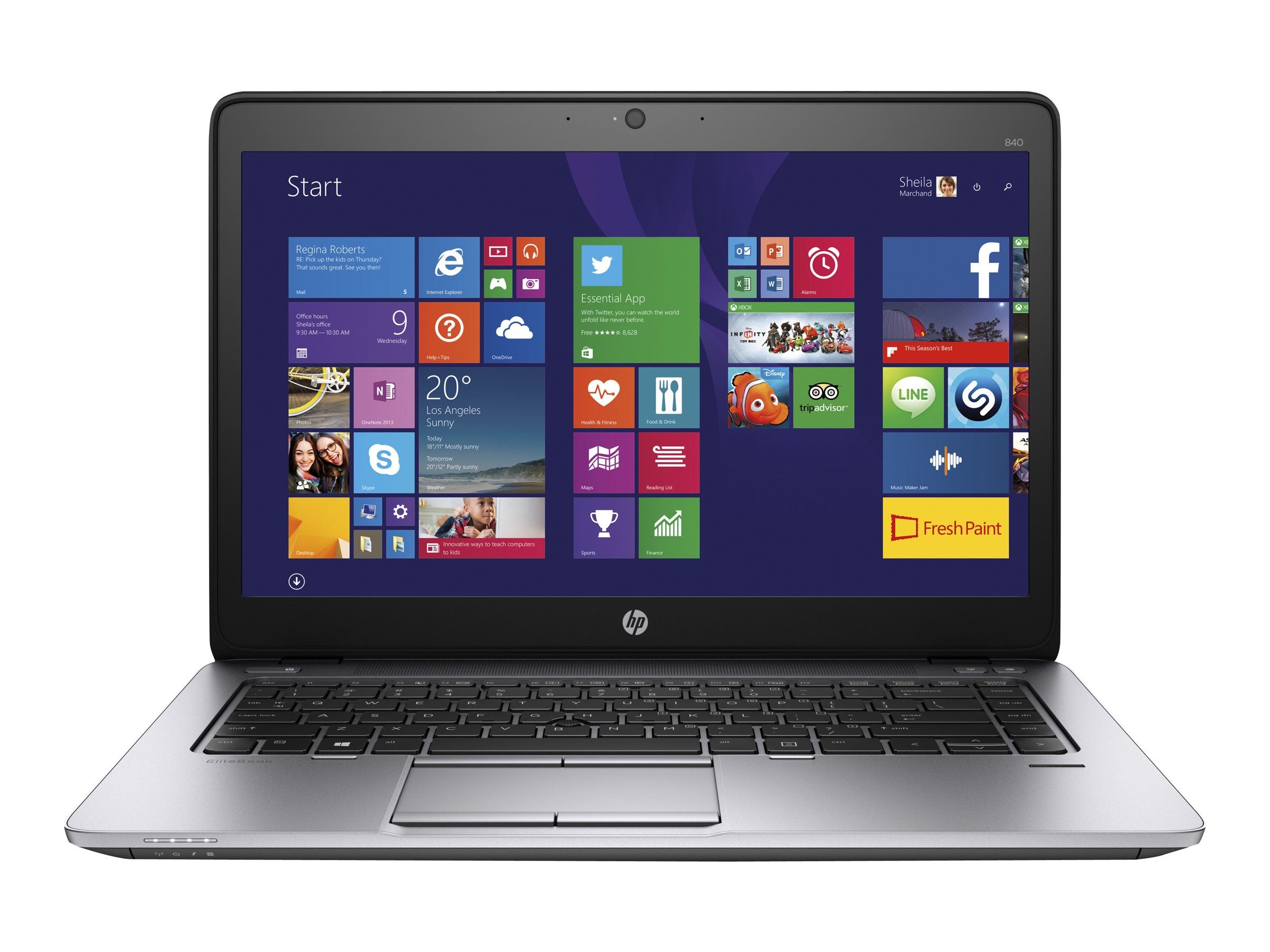 HP EliteBook 840 Core i7-5600U 16GB 512GB 14, P4C01UC#ABA
