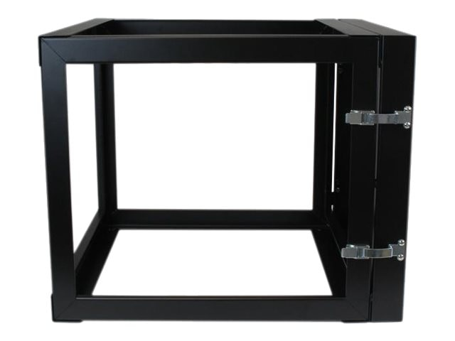 StarTech.com 8U x 22d Hinged Open Frame Wall Mount Server Rack, RK819WALLOH