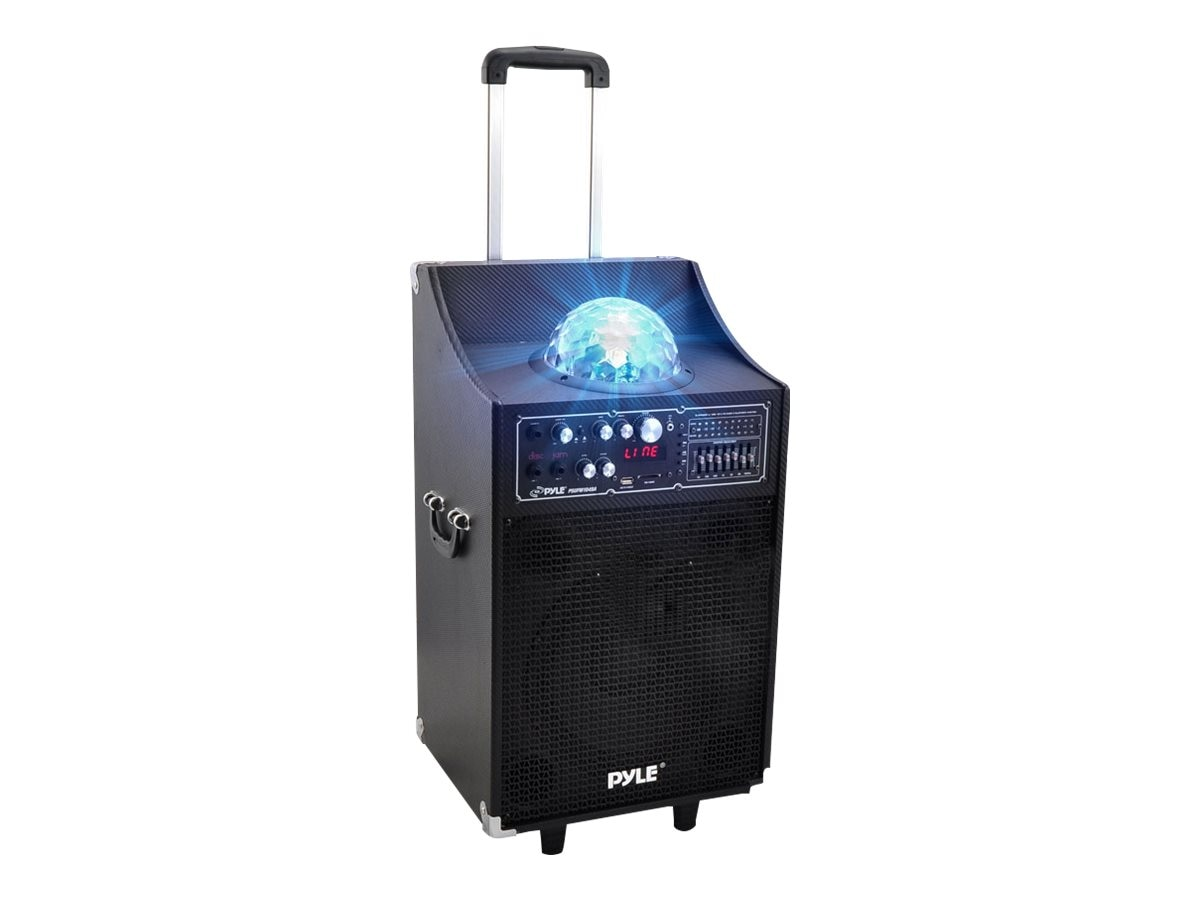 Pyle 600 Watt Disco Jam Bluetooth 2-Way PA Speaker System with USB SD Readers, FM Radio, PSUFM1049A