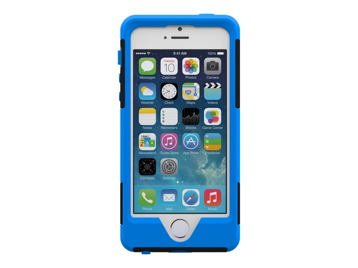Trident Case Aegis for Apple iPhone 5S, Blue, AG-APL-IPH5S-BLU, 16222812, Carrying Cases - Phones/PDAs