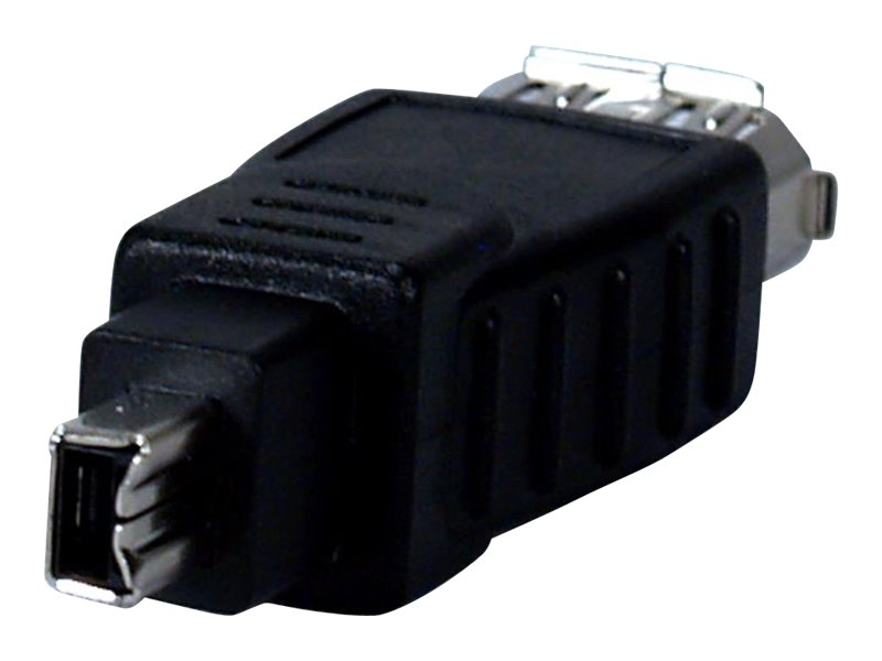 QVS IEEE1394 FireWire i.Link 6-Pin Female to 4-Pin Male Digital Audio Video Adapter, CC1394B-FM, 16745322, Cables