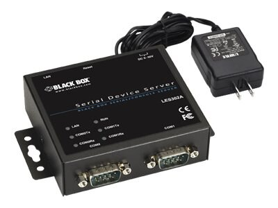 Black Box 2-Port 10 100 RS-232 422 485 DB9 M Device Server, LES302A-KIT, 31618170, Remote Access Servers