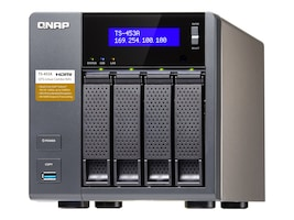 Qnap TS453A 4-Bay Professional Grade Intel QuadCore 16GHZ CPU NAS, TS-453A-4G-US, 31069887, Network Attached Storage