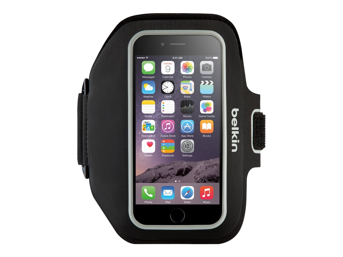 Belkin Sport-Fit Plus Armband for iPhone 6, Blacktop Overcast, F8W501-C00