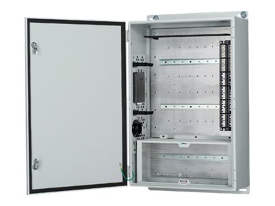 Panduit Industrial Zone Enclosure 40h x 24w x 11.7d w  Pre-configured Backplane, Gray