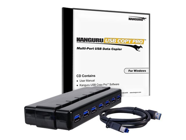 Kanguru™ 7-port Copy Pro USB 3.0 Hub, KCP-U3, 17097646, Storage Drive & Media Duplicators
