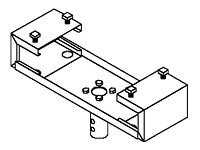 Peerless I-Beam Adapter Bracket, 3in Long Tray for 7in to 12in Wide I-Beam, DCT800, 6835543, Stands & Mounts - AV