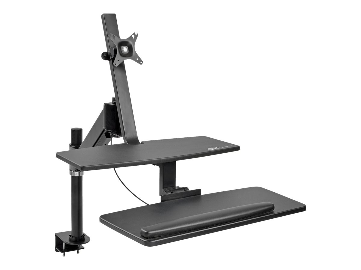 Tripp Lite WorkWise Single-Monitor Standing Desk-Clamp Workstation for 13-27 Displays, WWSS1327CP