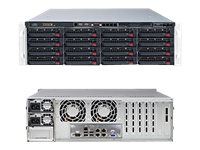 Supermicro Barebones, SuperStorage Server 6038R-E1CR16N 3U RM (2x)E5-2600 v3 Family Max.1.5TB DDR4 16x3.5 Bays