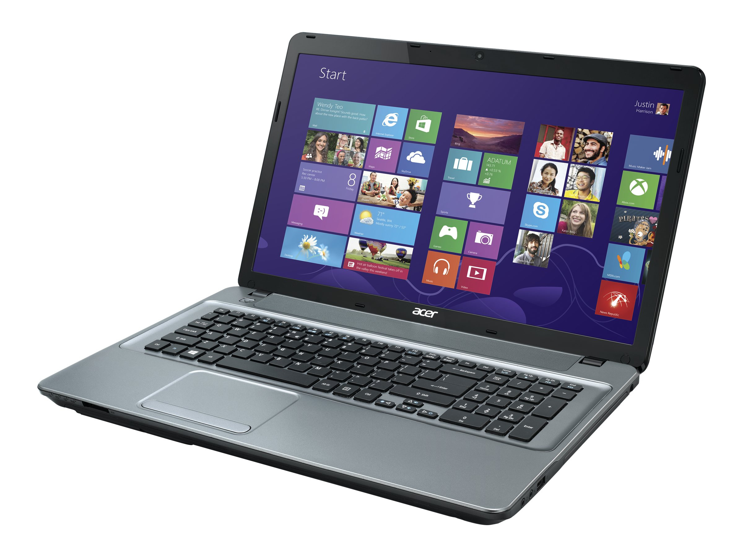 Acer Aspire E1-771-6458 2.4GHz Core i3 17.3in display, NX.MG7AA.006, 16733410, Notebooks