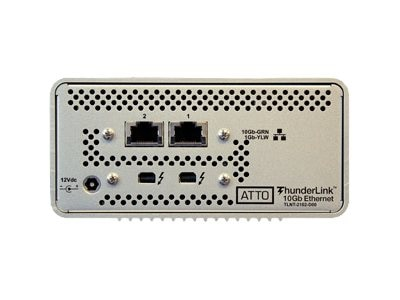 Atto 20Gb s Thunderbolt 2 (2-port) to 10GbE (2-Port) Desklink Device, TLNT-2102-D00